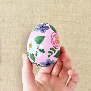 Pink Lemonade Floral Easter Egg