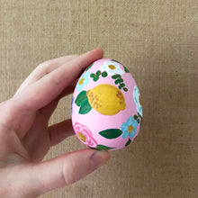 Load image into Gallery viewer, Pink Lemonade Floral Easter Egg