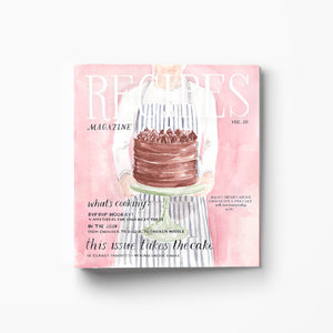 cake illustration three ring recipe binder