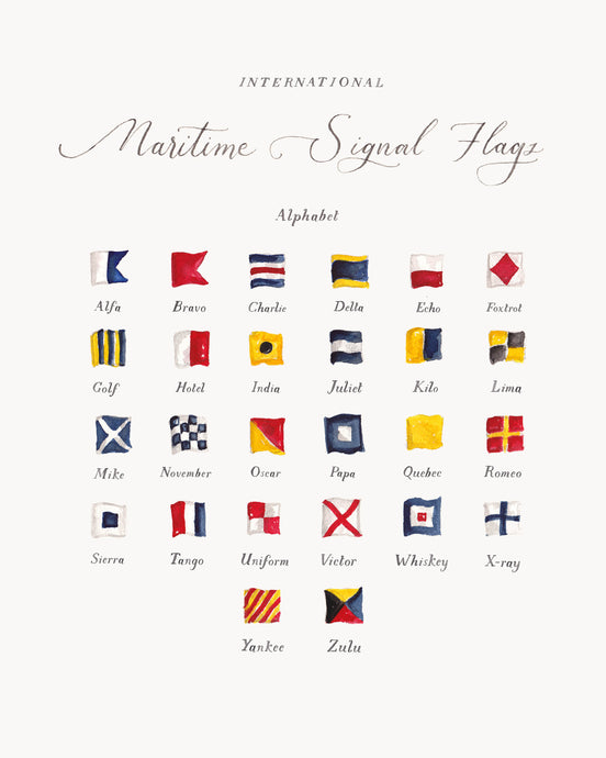 Signal Flags Chart Art Print