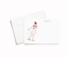 Load image into Gallery viewer, Ice Skating Girl Personalized Stationery