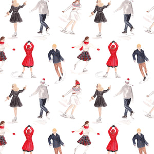 Ice Skaters Wrapping Paper