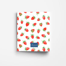 Load image into Gallery viewer, Strawberries 3-Ring Recipe Binder The Illustrated Life