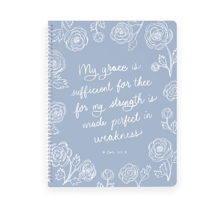 Sufficient Grace Spiral Notebook