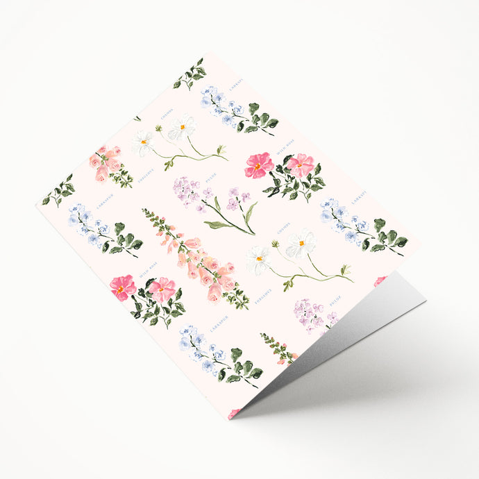 Botanical File Folder with Pockets