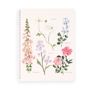 Summer Botanical Spiral Notebook