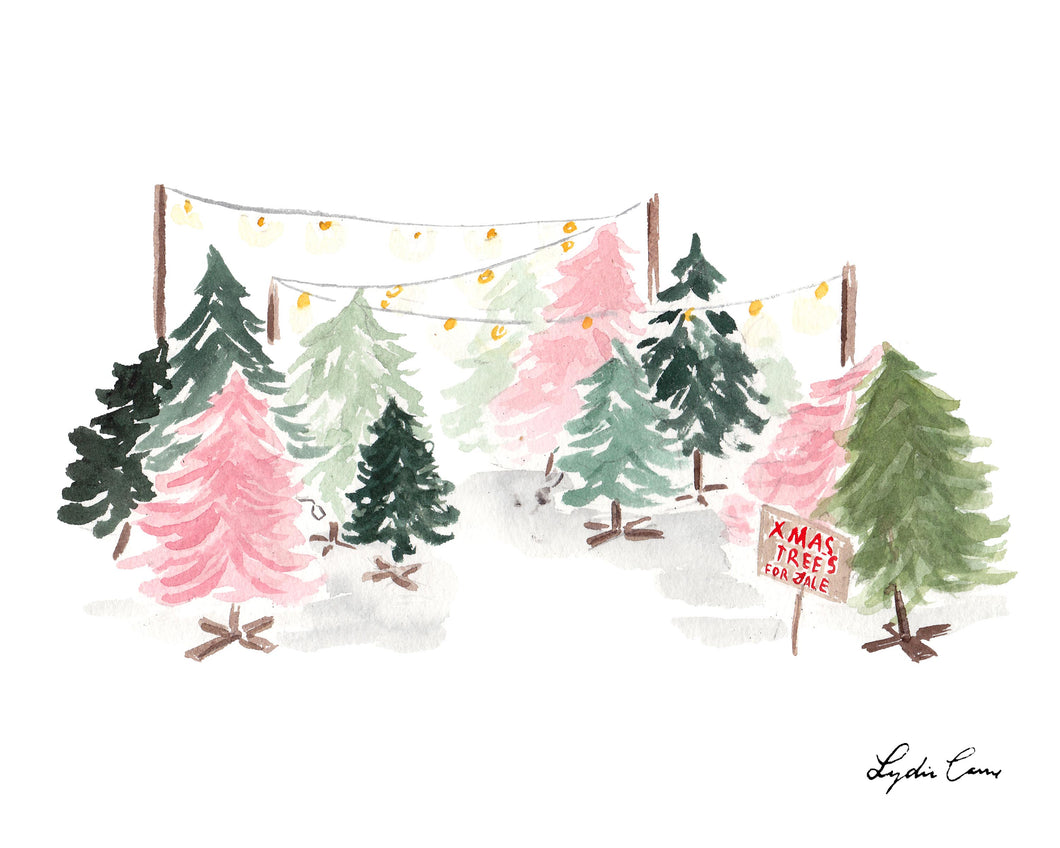Christmas Trees Art Print