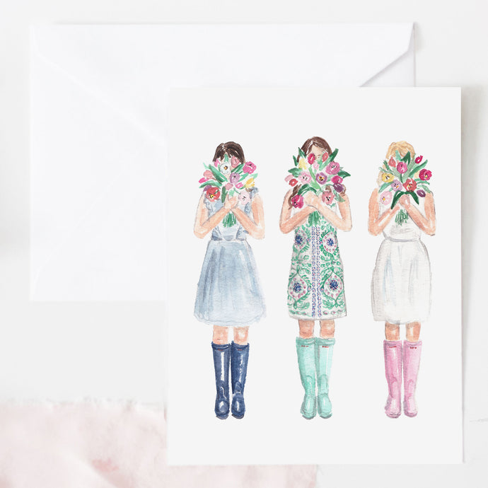 Bunches of Love Greeting Card