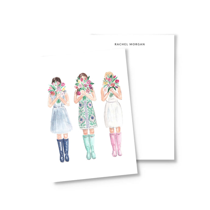 Personalized Tulip Girls Stationery