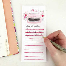 Load image into Gallery viewer, Retro Pink Typewriter Notepad