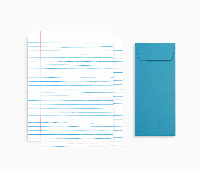 Limited Edition Wide Ruled Stationery