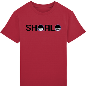 SHOALO Logo - Boy's Tee / T-Shirt - red - front