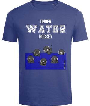 SHOALO Underwater Hockey Ninja's - Men's T-Shirt / Tee - Navy - Front