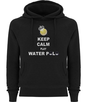 SHOALO Keep Calm Play Water Polo - Unisex Hoodie / Hoody - Black - Front