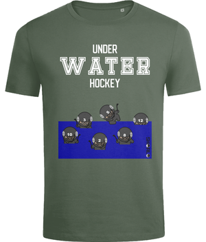 SHOALO Underwater Hockey Ninja's - Men's T-Shirt / Tee - Army - Front
