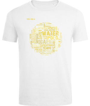 SHOALO Word Cloud - Men's T-Shirt / Tee - White - Front