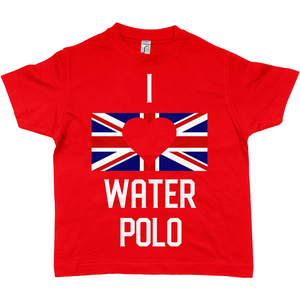 SHOALO I Love Water Polo GB Flag - Children's / Kid's T-Shirt