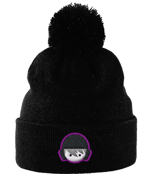 SHOALO Water Polo Head - Beanie With Pom Pom - Black
