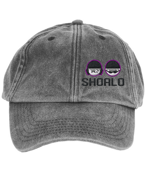 SHOALO Logo - Vintage Low Profile Baseball Cap - Black