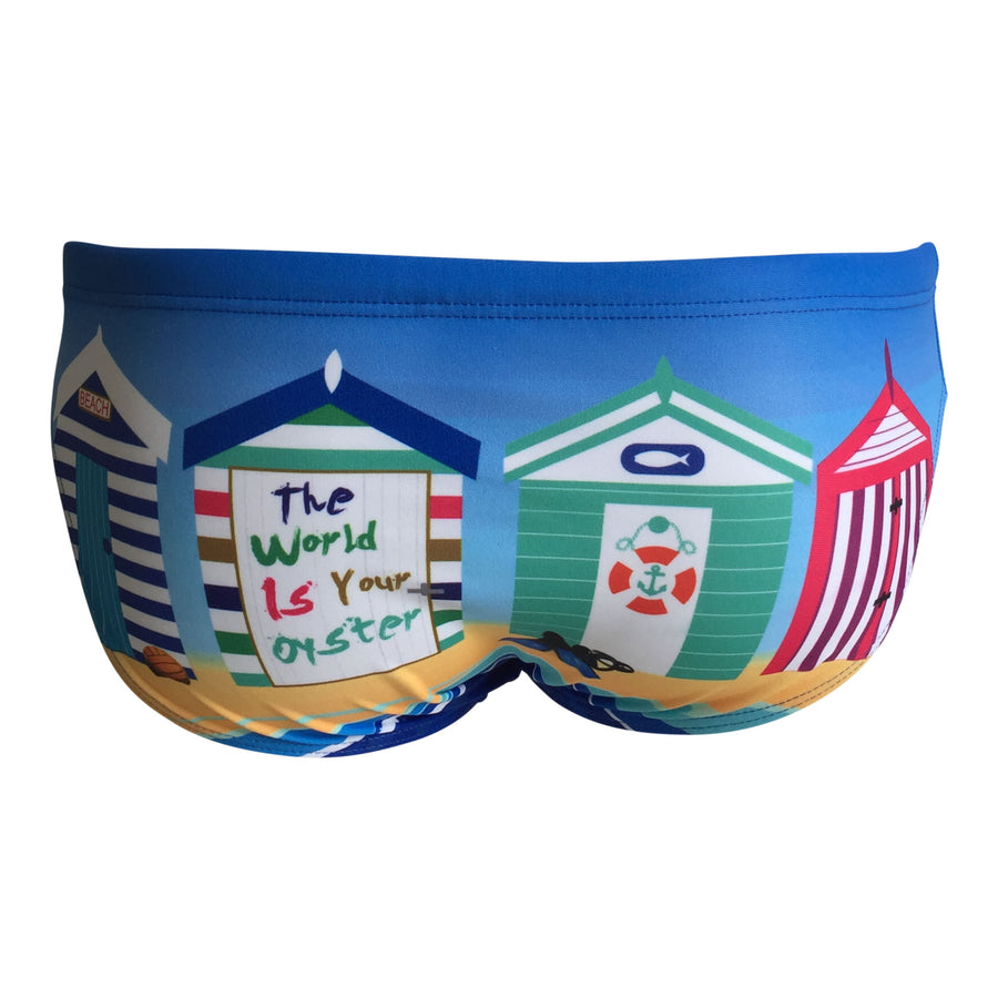 Front - SHOALO Beach Huts - Men's WP Swim Briefs / Trunks