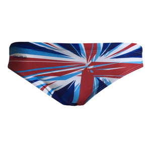 Front - SHOALO GBR - UK - GB - Men's WP Swim Briefs / Trunks