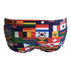 Back - SHOALO International Flags - Men's WP Swim Briefs / Trunks