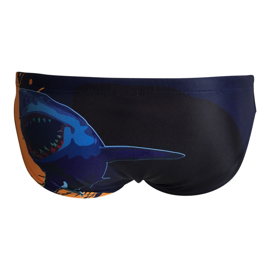 Front - SHOALO Shark - Men's WP Swim Briefs / Trunks