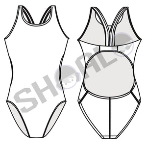 SHOALO - Team Uniform - Womens Bladeback Swimsuit / Swimming Costume