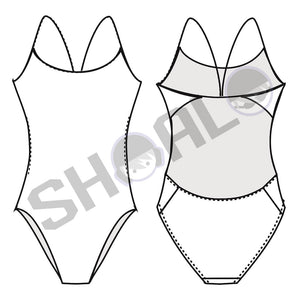 SHOALO - Team Uniform - Womens Openback Swimsuit / Swimming Costume