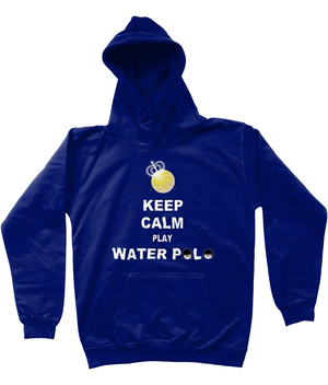 SHOALO Keep Calm Play Water Polo - Kid's / Children's Hoodie - Oxford Navy - Front