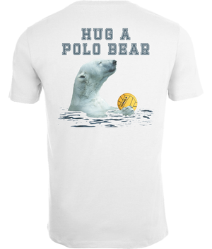SHOALO Hug A Polo Bear - Men's T-Shirt / Tee - White - Back