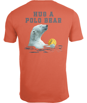 SHOALO Hug A Polo Bear - Men's T-Shirt / Tee - Hibiscus - Back