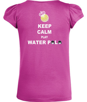 SHOALO Keep Calm Play Water Polo - Girl's T-Shirt / Tee - Back