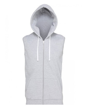 SHOALO Scream - Men's Sleeveless Hoodie / Hoody - Grey- Front