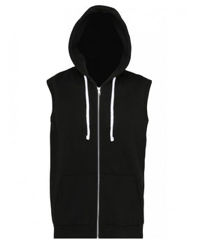 SHOALO Scream - Men's Sleeveless Hoodie / Hoody - Black - Front