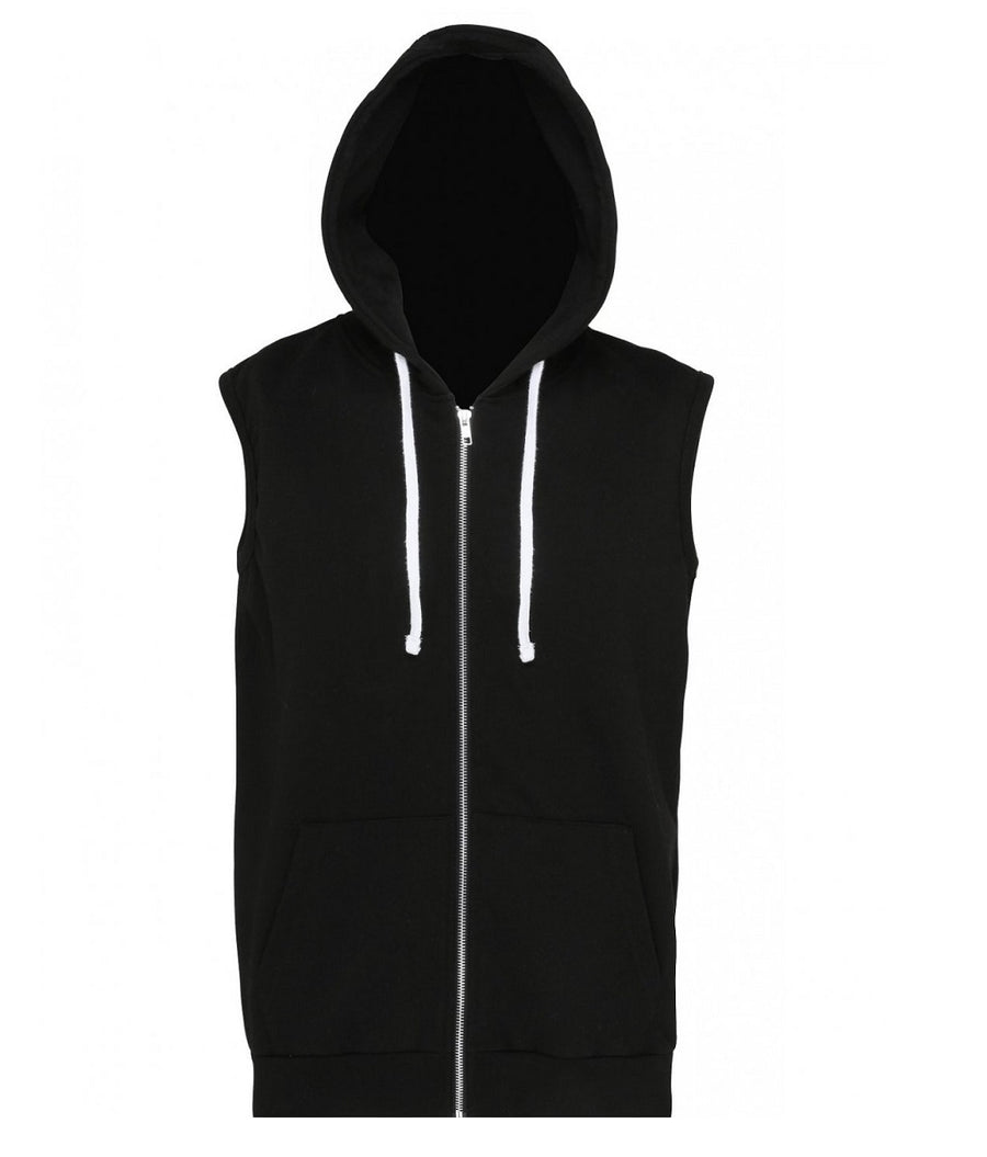 SHOALO Scream - Men's Sleeveless Hoodie / Hoody - Black