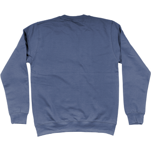 Shoalo WP Head - Embroidered Jumper / Sweatshirt - Airforce Blue - Back