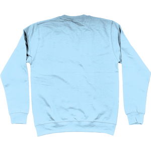 Shoalo WP Head - Embroidered Jumper / Sweatshirt - Sky Blue - Back