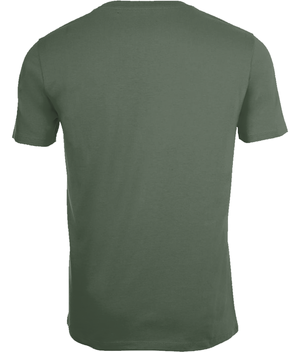 SHOALO Word Cloud - Men's T-Shirt / Tee - Army - Back