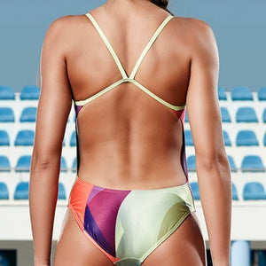SHOALO - Team Uniform - Womens Openback Swimsuit / Swimming Costume - Photo