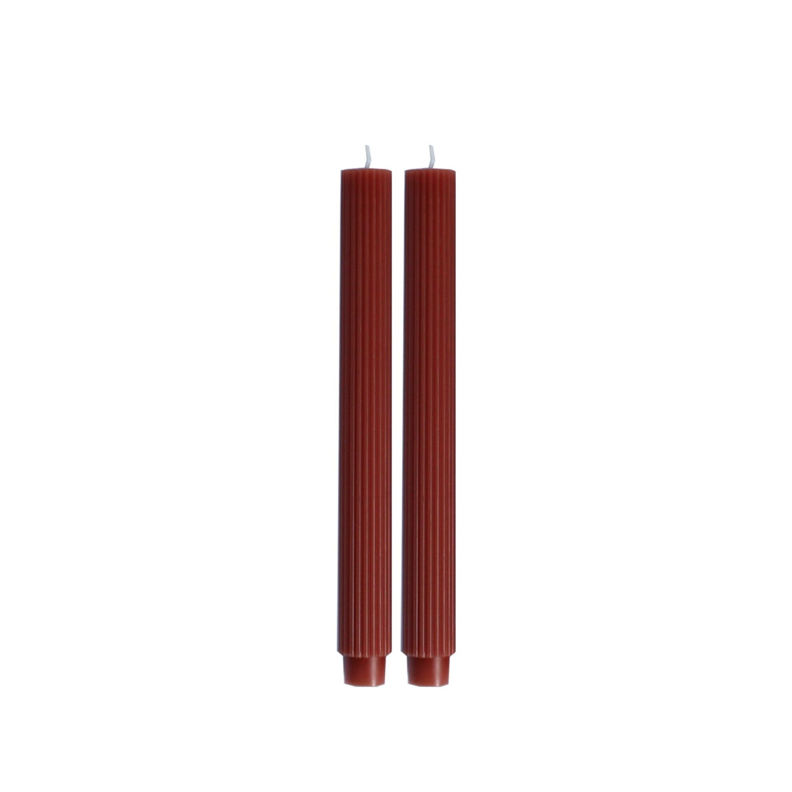 Reeded Clay Taper Candle