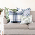 Oxford Plaid Pillow in Periwinkle