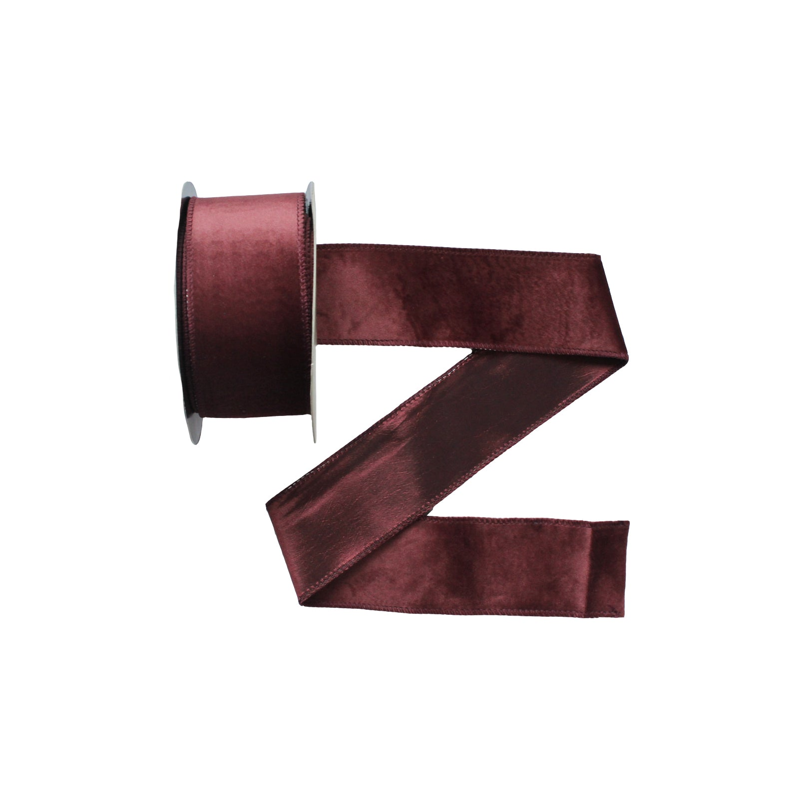 Wired Deep Cranberry Velvet Ribbon