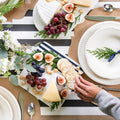 Black and White Stripe Paper Table Runner