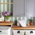 Fern Stripe Wallpaper in Sage