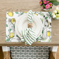 Green Stripe Napkin - Set of 6