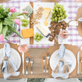 Lavender Picnic Check Paper Table Runner