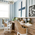 Fern Stripe Wallpaper in Navy no. 2