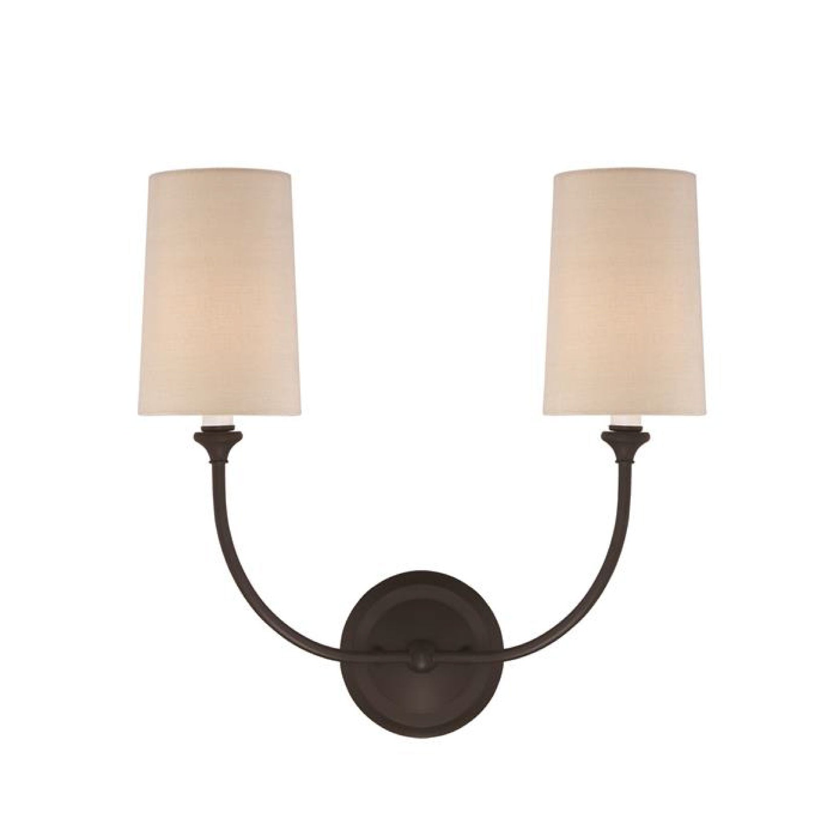 Abrams Double Sconce in Bronze