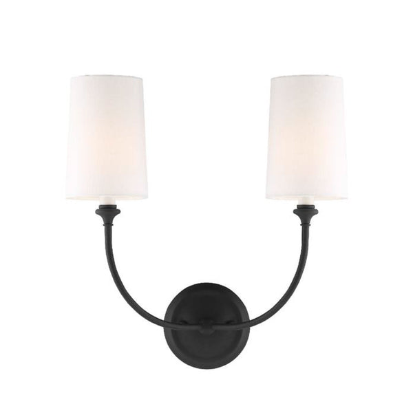 Abrams Double Sconce in Forged Black